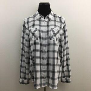🆕 Caslon | Button Down Plaid Shirt